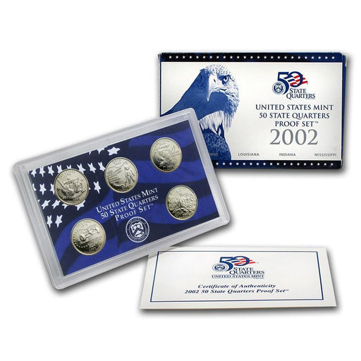 2002 United States Mint 50 State Quarters Proof Set - HMint Precious Metals