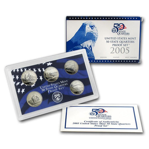 2005 United States Mint 50 State Quarters Proof Set - HMint Precious Metals
