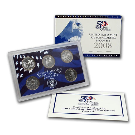 2008 United States Mint 50 State Quarters Proof Set - HMint Precious Metals