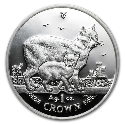 2012 Isle of Man 1 oz Silver Manx Cat Proof - HMint Precious Metals