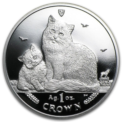 2013 Isle of Man 1 oz Silver Siberian Cat Proof - HMint Precious Metals