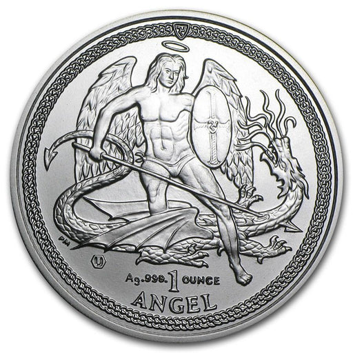 2014 Isle of Man 1 oz Silver Angel BU - HMint Precious Metals