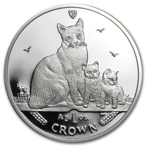 2014 Isle of Man 1 oz Silver Snowshoe Cat Proof - HMint Precious Metals