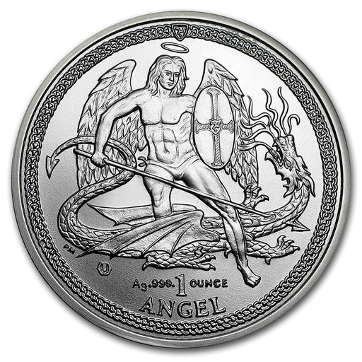 2015 Isle of Man 1 oz Silver Angel BU - HMint Precious Metals