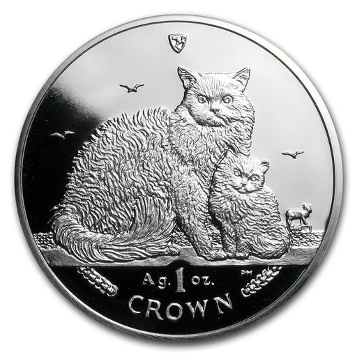 2015 Isle of Man 1 oz Silver Selkirk Rex Cat Proof - HMint Precious Metals
