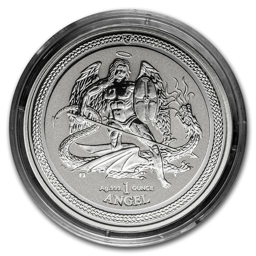 2016 Isle of Man 1 oz Silver Angel Reverse Proof - HMint Precious Metals