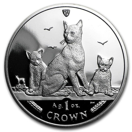 2016 Isle of Man 1 oz Silver Brown Cat Proof - HMint Precious Metals
