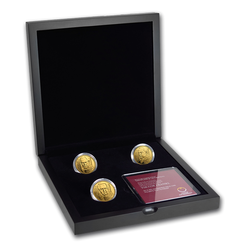 2017-2019 Austria 3-Coin Gold Proof School of Psychotherapy Set - HMint Precious Metals