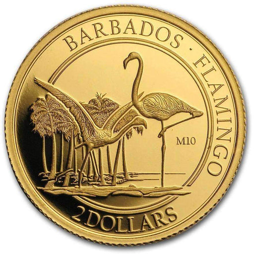 2017 Barbados 1/10 oz Gold Proof $2 The Flamingo (M10 Privy Mark) - HMint Precious Metals