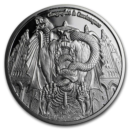 2017 Chad 1 oz Proof Silver Gargoyles and Grotesques (Decay) - HMint Precious Metals