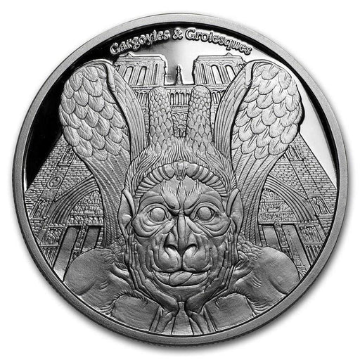 2017 Chad 1 oz Proof Silver Gargoyles and Grotesques (Spitter) - HMint Precious Metals