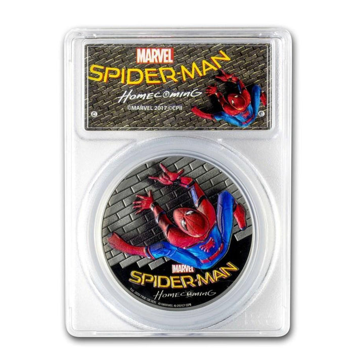 2017 Cook Islands 1 oz Silver $5 SPIDERMAN Homecoming PR-70 PCGS - HMint Precious Metals