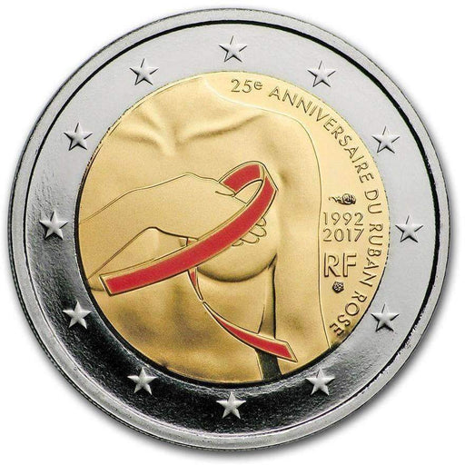 2017 France 2 Euro Fight Against Breast Cancer Proof (Colorized) - HMint Precious Metals
