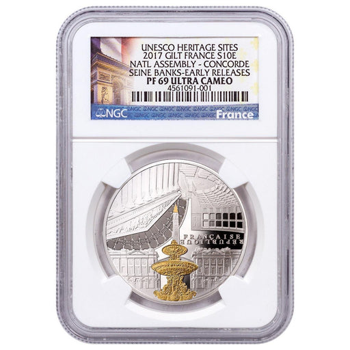 2017 France Silver Banks of the Seine National Assembly and Concorde NGC PF-69 (Early Releases) - HMint Precious Metals