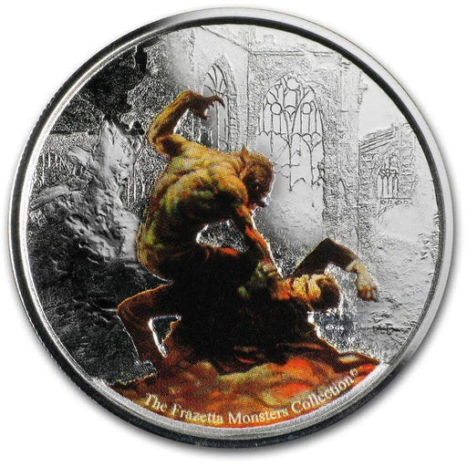 2017 Republic of Ghana 1 oz Silver Proof Werewolf vs. The Count - HMint Precious Metals