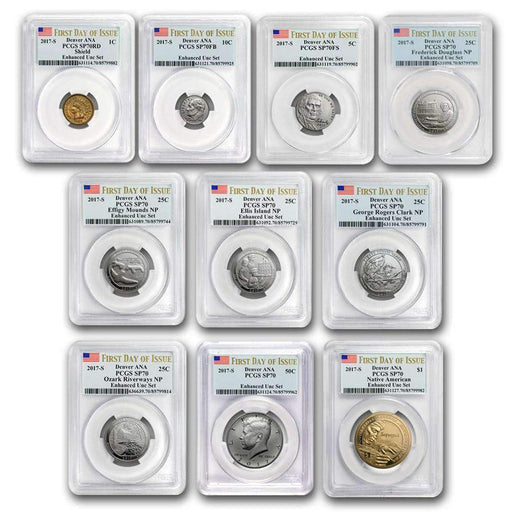 2017 U.S. Mint Enhanced Uncirculated Coin Set SP-70 PCGS (First Day) - HMint Precious Metals