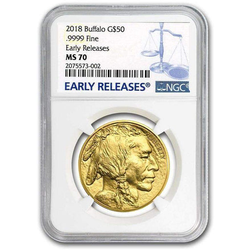 2018 1 oz Gold Buffalo MS-70 NGC Early Releases - HMint Precious Metals
