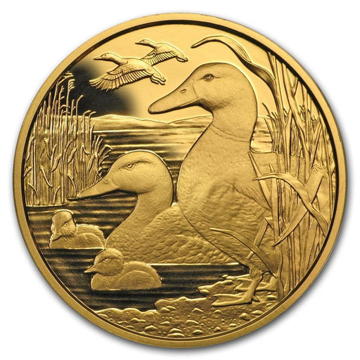 2018 Austria Proof Gold Wildlife in our Sights (The Mallard) - HMint Precious Metals