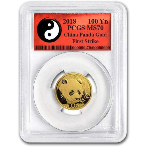 2018 China 8 Gram Gold Panda MS-70 PCGS (First Strike, Yin-Yang) - HMint Precious Metals