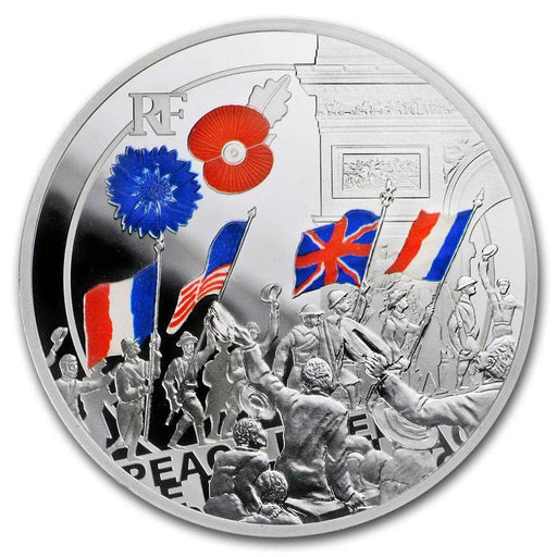 2018 France Silver 10 Great War Colorized (Peoples Jubilation) - HMint Precious Metals