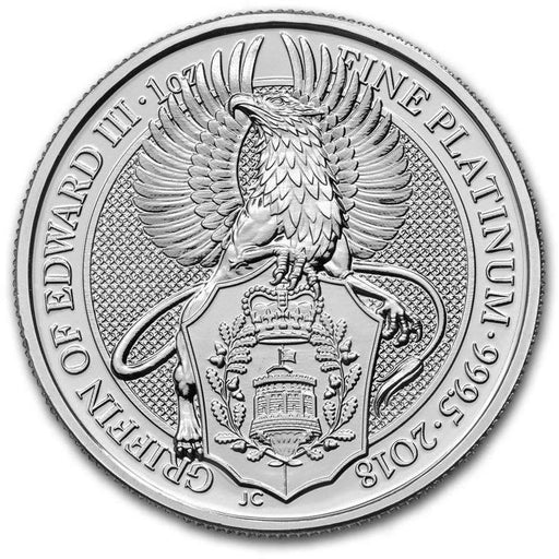 2018 Great Britain 1 oz Platinum Queen's Beasts The Griffin - HMint Precious Metals