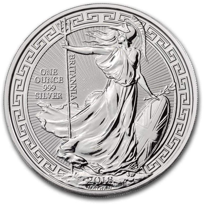 2018 Great Britain 1 oz Silver Britannia Oriental Border - HMint Precious Metals