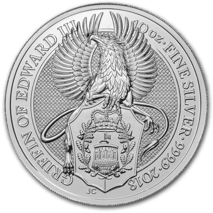 2018 Great Britain 10 oz Silver Queen's Beasts The Griffin - HMint Precious Metals