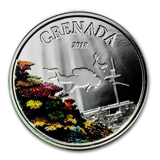 2018 Grenada 1 oz Silver Diving Paradise Proof (Colorized) - HMint Precious Metals