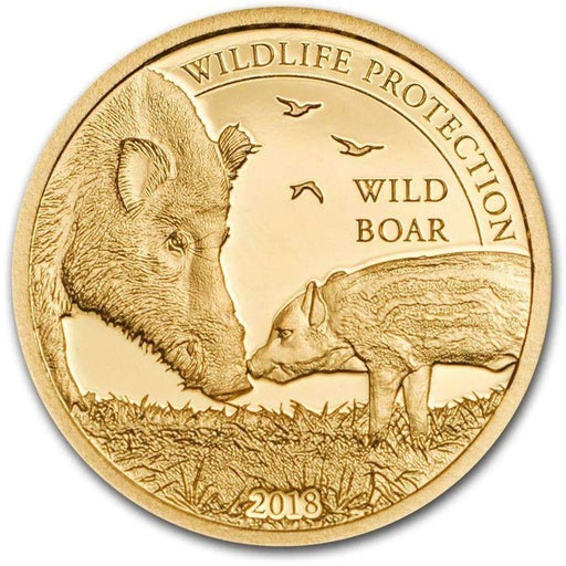 2018 Mongolia 1/2 gram Gold Proof Wildlife Protection Wild Boar - HMint Precious Metals