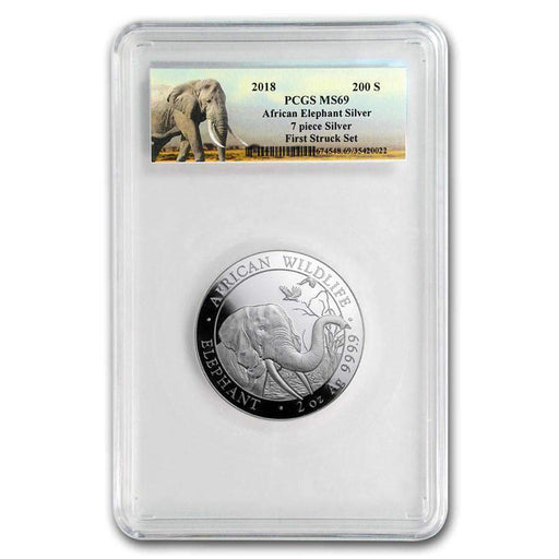 2018 Somalia 2 oz Silver Elephant MS-69 PCGS (First Strike) - HMint Precious Metals