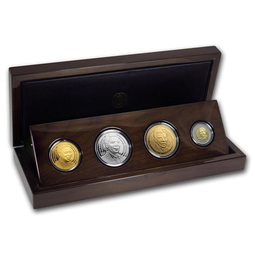 2018 South Africa Gold/Silver 4-Coin Mandela Centenary Set - HMint Precious Metals