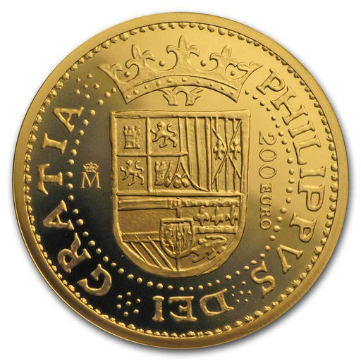 2018 Spain Proof Gold 200 Euro 150th Anniversary Spanish Escudos - HMint Precious Metals