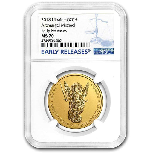 2018 Ukraine 1 oz Gold Archangel Michael MS-70 NGC (Early Releases) - HMint Precious Metals