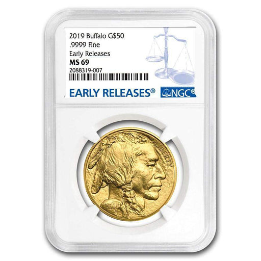 2019 1 oz Gold Buffalo MS-69 NGC (Early Releases) - HMint Precious Metals