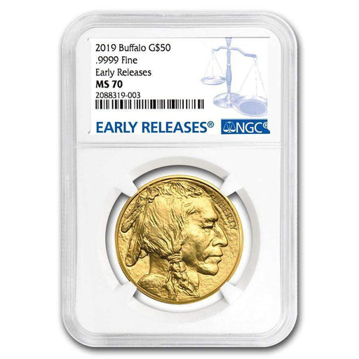2019 1 oz Gold Buffalo MS-70 NGC (Early Releases) - HMint Precious Metals