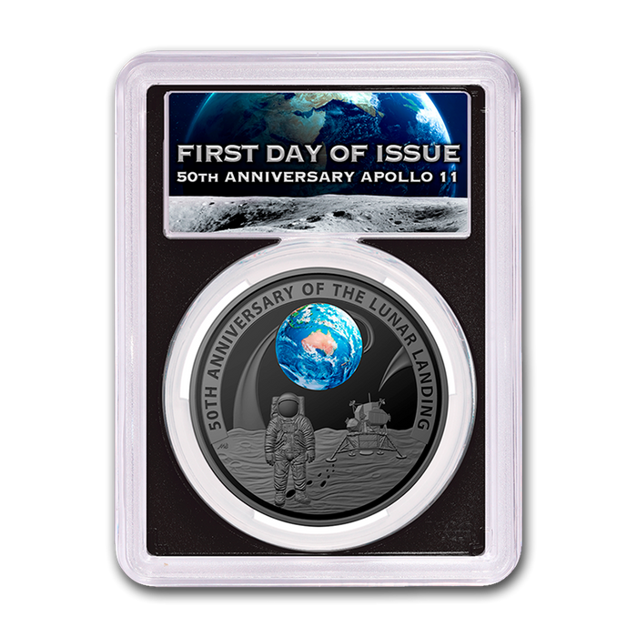 2019 Australia 1 oz Silver Proof Moon Landing PR-70 PCGS (First Day) - HMint Precious Metals