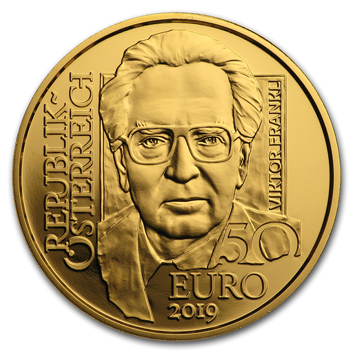 2019 Austria 1/4 oz Gold Proof School of Psychotherapy (Viktor Frankl) - HMint Precious Metals