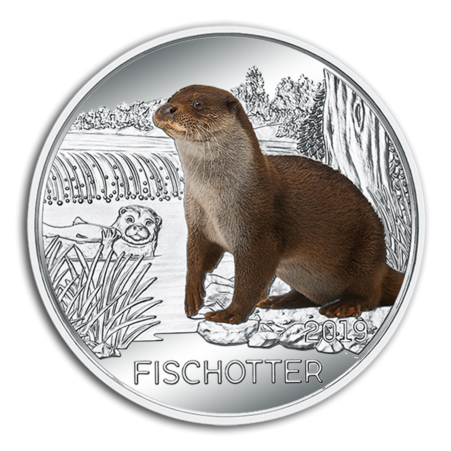 2019 Austria Cupro-Nickel Colorful Creatures (The Otter) - HMint Precious Metals