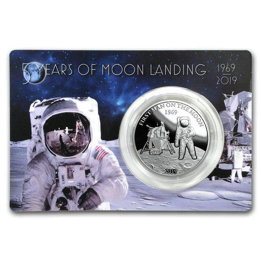 2019 Barbados 1 oz Silver First Man On The Moon Proof - HMint Precious Metals
