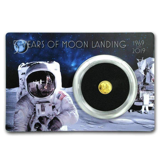 2019 Barbados 1/2 Gram Proof Gold First Man On The Moon - HMint Precious Metals