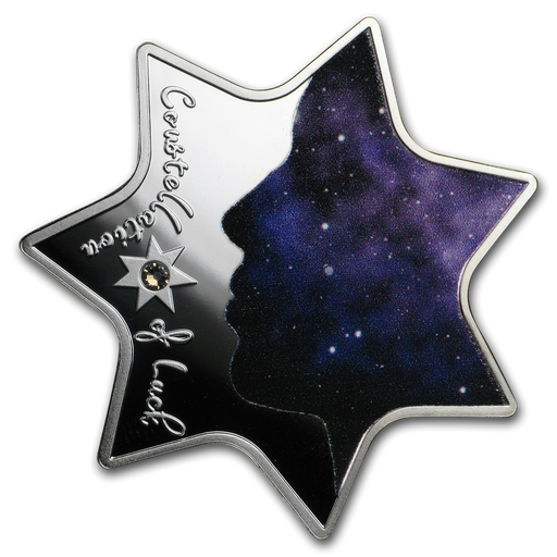 2019 Cameroon Silver Constellation of Luck Star Shape Proof - HMint Precious Metals