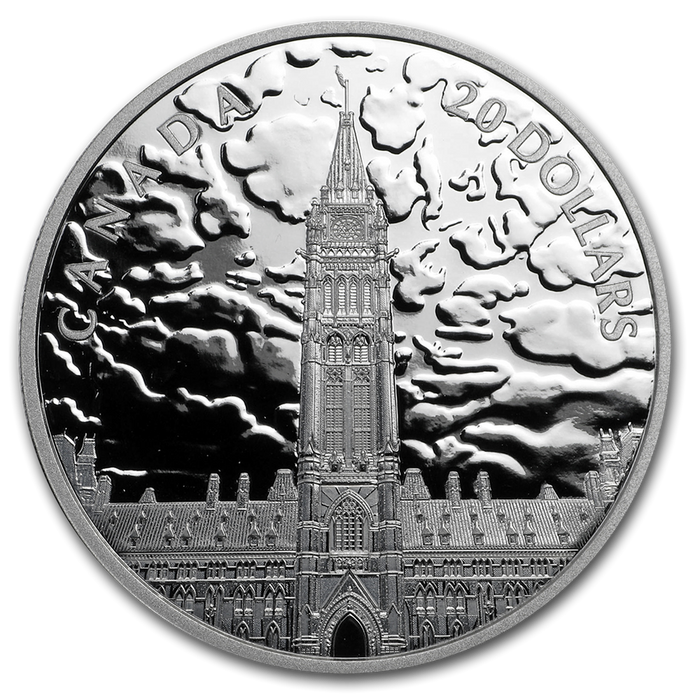 2019 Canada 1 oz Silver $20 Lights on Parliament Hill - HMint Precious Metals