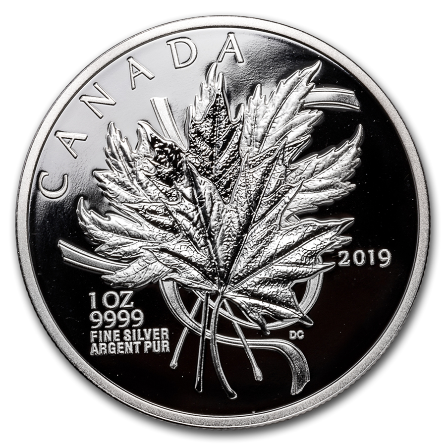 2019 Canada 1 oz Silver The Beloved Maple Leaf Proof - HMint Precious Metals