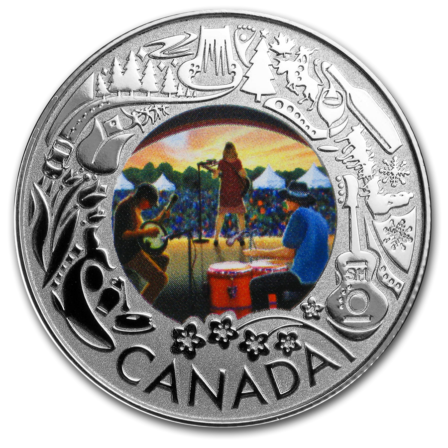 2019 Canada 1/4 oz Silver $3 Celebrating Canadian Fun: Folk Music - HMint Precious Metals