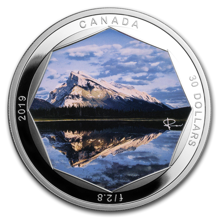 2019 Canada 2 oz Silver $30 Peter McKinnon Photo Series: Mount Rundle - HMint Precious Metals