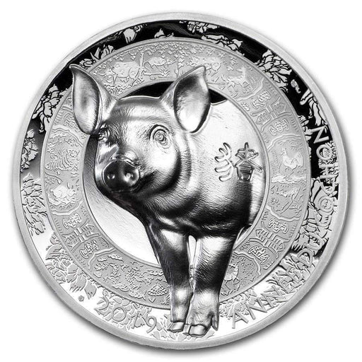 2019 France 1 oz Silver Year of the Pig High Relief Proof (Lunar) - HMint Precious Metals