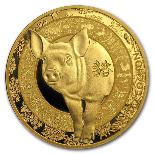 2019 France 1/4 oz Gold Year of the Pig Proof (Lunar) - HMint Precious Metals