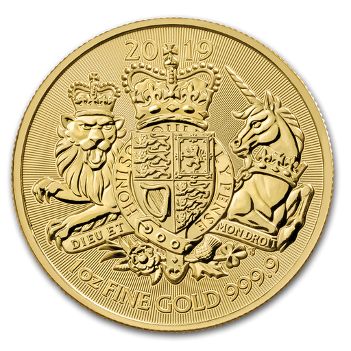 2019 Great Britain 1 oz Gold The Royal Arms BU - HMint Precious Metals