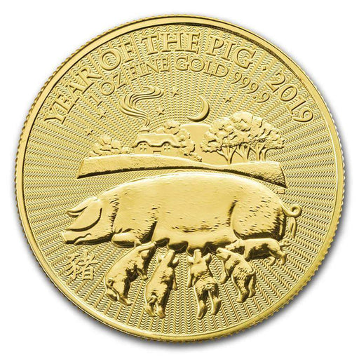 2019 Great Britain 1 oz Gold Year of the Pig BU - HMint Precious Metals