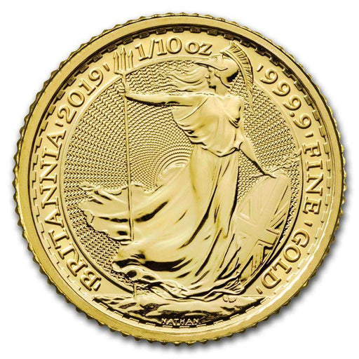 2019 Great Britain 1/10 oz Gold Britannia BU - HMint Precious Metals